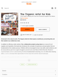 Kids - The Organic Artist for Kids - Santa Clara County Library - OverDrive