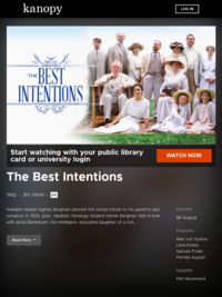 Watch The Best Intentions now | Kanopy