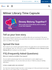 Milner Library Time Capsule