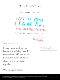 Stay at Home Storytime with Oliver Jeffers