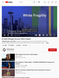 Dr. Robin DiAngelo discusses 'White Fragility' - YouTube