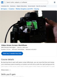 Video Green Screen Workflows
