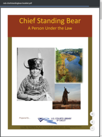 Chief Standing Bear: A Person Under the Law | U.S. Courts Library, 8th Circuit