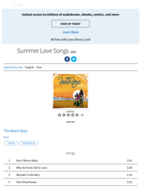 Summer Love Songs: The Beach Boys | Hoopla