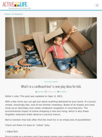 What's in a cardboard box? 12 new play ideas for kids | Active For Life