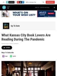 KCUR Up to Date: Books segment--Pandemic Reading