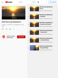Mid-Morning Meditation Playlist