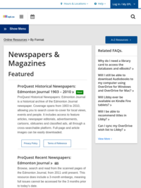 EPL Digital Content - Newspapers and Magazines