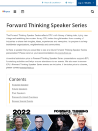 Forward Thinking Speaker Series