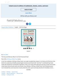 100 Days of Real Food: Fast & Fabulous, by Lisa Leake