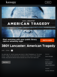 3801 Lancaster: American Tragedy.  The Secret Crimes of Abortionist Dr. Kermit Gosnell