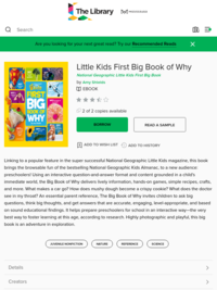 National Geographic Little Kids First Big Book of Why | Mississauga Public Library
