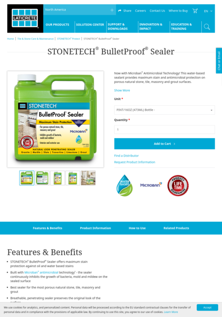 Laticrete StoneTech® Professional stone, tile and masonry care products