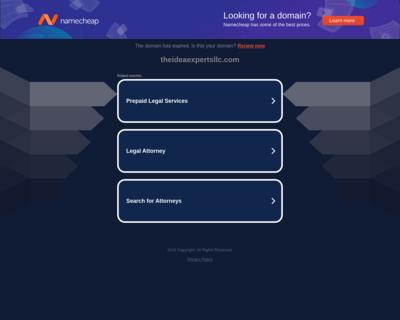 Screenshot of http://www.theideaexpertsllc.com/