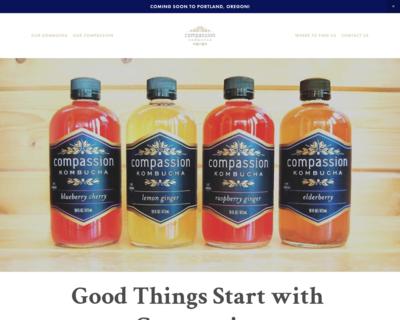 Screenshot of http://Kombuchawithcompassion.com/