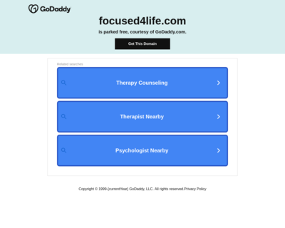 Screenshot of http://www.focused4life.com/