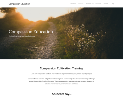 Screenshot of https://compassioneducation.com/