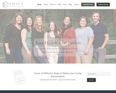 Screenshot of http://www.shiftfunctionalmed.com/