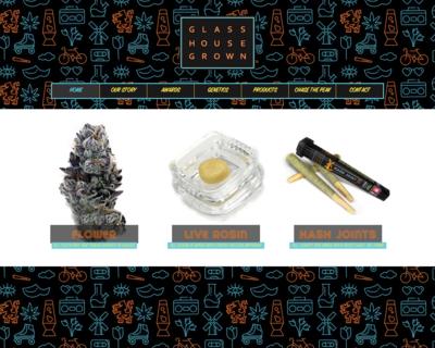 Screenshot of http://www.glasshousegrown.com/