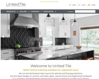 Screenshot of http://www.UnitedTile.com/