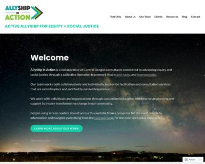 Screenshot of http://www.allyshipinaction.com/