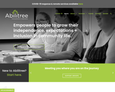 Screenshot of http://www.abilitree.org/