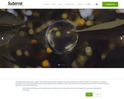 Screenshot of http://www.suterra.com/