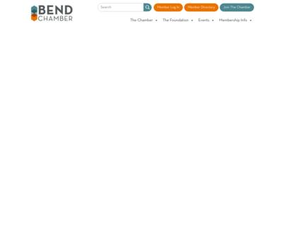 Screenshot of http://www.bendchamber.org/