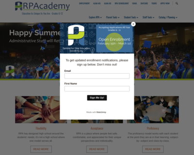 Screenshot of http://www.rpacademy.org/