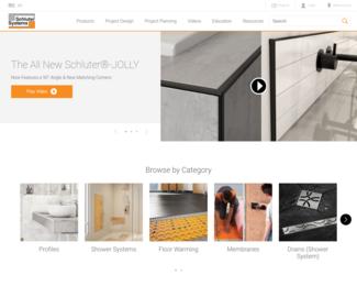 Screenshot of http://www.schluter.com/