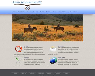 Screenshot of http://www.bendaccounting.com/