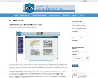 Screenshot of http://www.uofcts.org/online-courses/natural-stone/