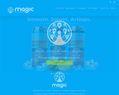 Screenshot of http://drinkmagicnumber.com/