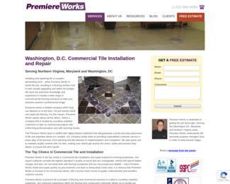 Screenshot of http://www.premiereworks.com/services/commercial-flooring/commercial-tile/