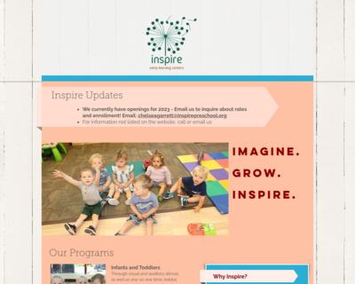 Screenshot of http://www.inspirepreschool.org/