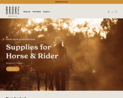 Screenshot of http://www.brokesupply.com/
