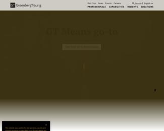 Screenshot of http://www.gtlaw.com/