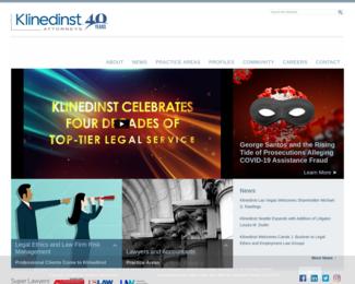 Screenshot of http://klinedinstlaw.com/