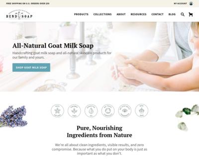 Screenshot of http://www.bendsoap.com/