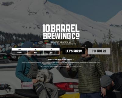 Screenshot of http://10barrel.com/