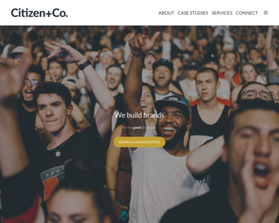Screenshot of https://citizenand.co/