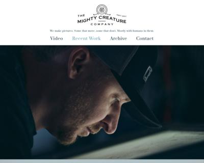 Screenshot of https://www.mightycreatureco.com/