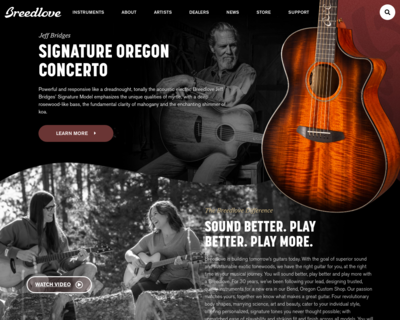 Screenshot of http://www.breedlovemusic.com/