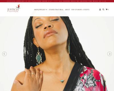 Screenshot of http://www.justiciajewelry.com/