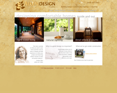 Screenshot of http://www.aahomedesign.com/