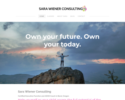 Screenshot of http://www.sarawienerconsulting.com/