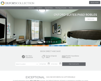 Screenshot of https://www.oxfordcollection.com/