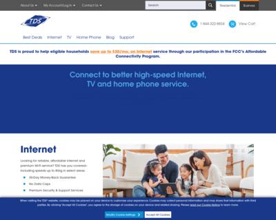Screenshot of https://bendbroadband.com/