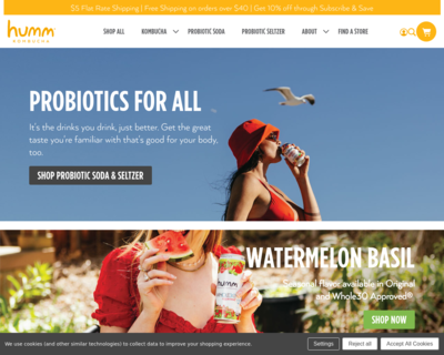 Screenshot of http://www.hummkombucha.com/