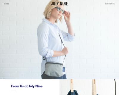 Screenshot of http://julynine.com/